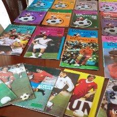 Coleccionismo deportivo: COLECCION HISTORICA: MUNDIALES Y EUROCOPAS - DESDE 1930 A HOY - 70 GUIAS. Lote 177487562