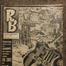Coleccionismo deportivo: RB REVISTA BARCELONISTA N°1 NUMERO UNO 7 DE ABRIL DE 1965 FC BARCELONA. Lote 177590252