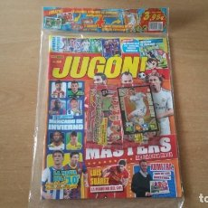 Coleccionismo deportivo: REVISTA JUGON 89 PRECINTADO BENZEMA ED ESPECIAL + 18 CROMOS INVIERNO. Lote 177668777