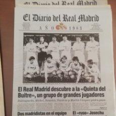 Coleccionismo deportivo: REAL MADRID CF. COLECCIÓN 100 PERIÓDICOS. AÑOS 1902 AL 2002.. Lote 177690937