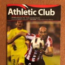 Coleccionismo deportivo: ATHLETIC CLUB BILBAO 2-0 A.D. ALCORCÓN. PROGRAMA PARTIDO 1/16 COPA DEL REY, TEMPORADA 2010/11.. Lote 178160285