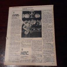 Coleccionismo deportivo: ENTREVISTA A LADISLAO KUBALA SOBRE SUS KUBALA BOYS - 3 PAGINAS . Lote 178192150