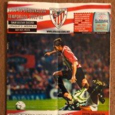 Coleccionismo deportivo: ATHLETIC CLUB BILBAO 3-1 REAL BETIS. PROGRAMA OFICIAL PARTIDO JORNADA 31, TEMPORADA 2002/03.. Lote 178250472