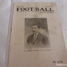Collectionnisme sportif: FOOT-BALL(22-11-1917) CRONICAS Y NOTICIAS DEL FUTBOL DE LA ÉPOCA. Lote 178294822