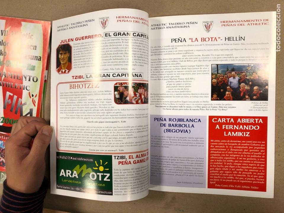 Coleccionismo deportivo: HERMANAMIENTO DE PEÑAS DEL ATHLETIC CLUB EN GAMIZ-FIKA: LOTE DE 5 REVISTAS DE DIFERENTES AÑOS. - Foto 3 - 178346856