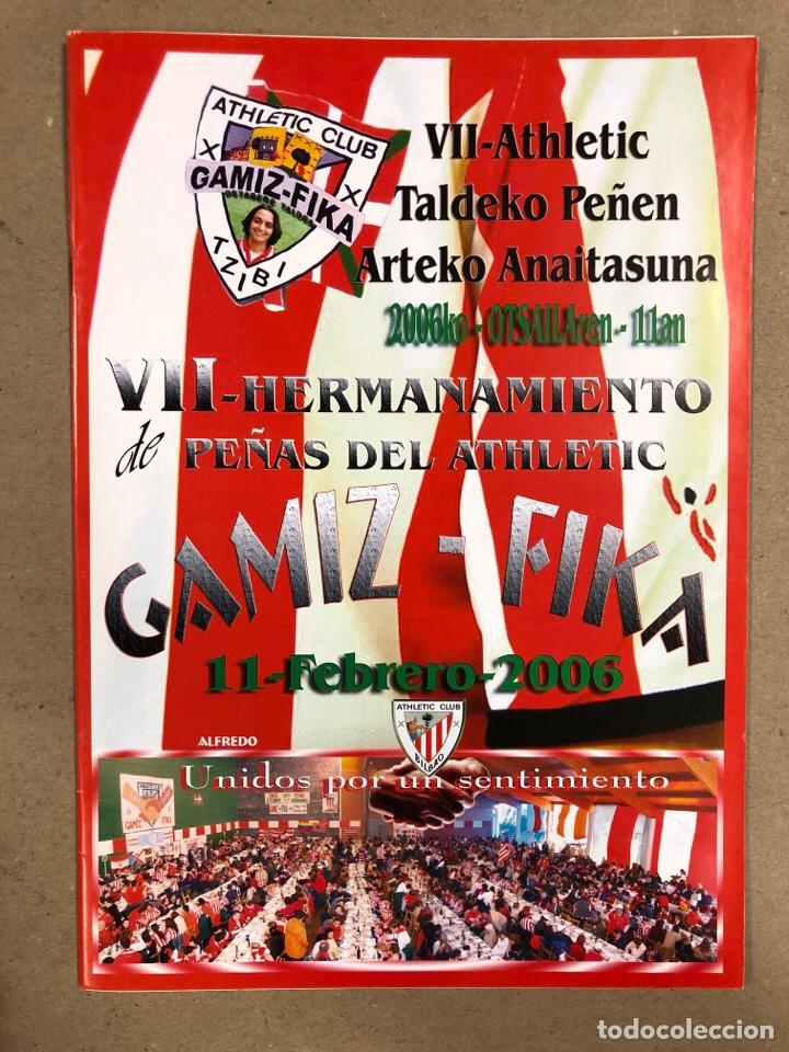 Coleccionismo deportivo: HERMANAMIENTO DE PEÑAS DEL ATHLETIC CLUB EN GAMIZ-FIKA: LOTE DE 5 REVISTAS DE DIFERENTES AÑOS. - Foto 5 - 178346856