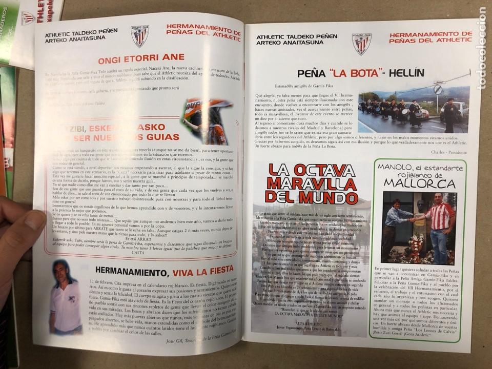 Coleccionismo deportivo: HERMANAMIENTO DE PEÑAS DEL ATHLETIC CLUB EN GAMIZ-FIKA: LOTE DE 5 REVISTAS DE DIFERENTES AÑOS. - Foto 6 - 178346856