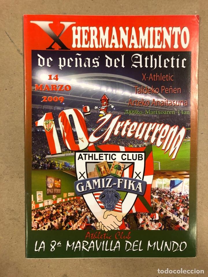 Coleccionismo deportivo: HERMANAMIENTO DE PEÑAS DEL ATHLETIC CLUB EN GAMIZ-FIKA: LOTE DE 5 REVISTAS DE DIFERENTES AÑOS. - Foto 8 - 178346856