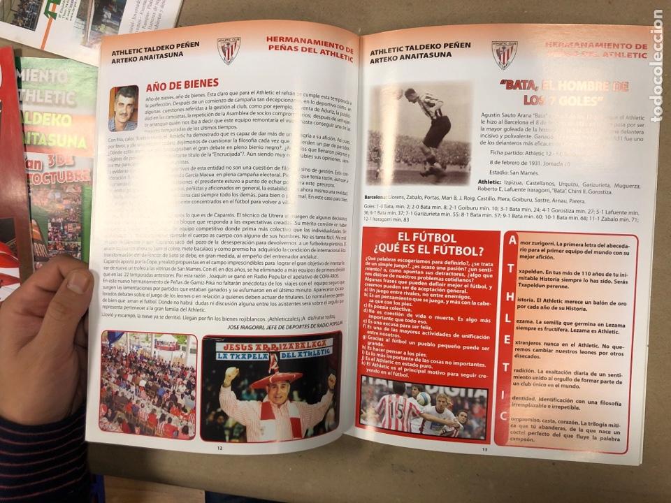 Coleccionismo deportivo: HERMANAMIENTO DE PEÑAS DEL ATHLETIC CLUB EN GAMIZ-FIKA: LOTE DE 5 REVISTAS DE DIFERENTES AÑOS. - Foto 9 - 178346856