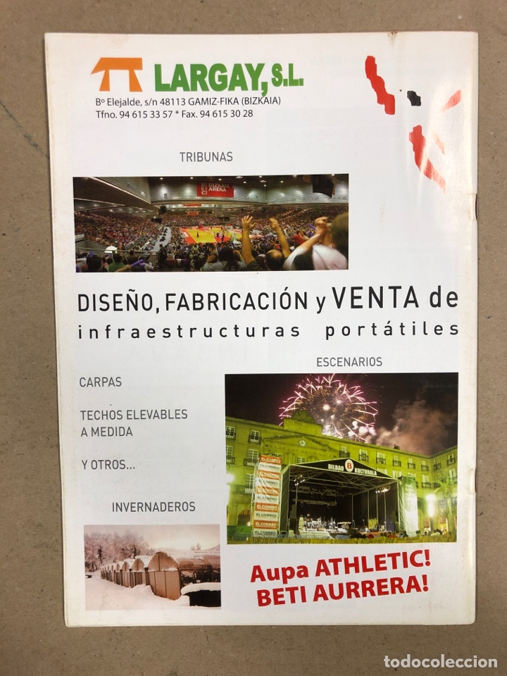 Coleccionismo deportivo: HERMANAMIENTO DE PEÑAS DEL ATHLETIC CLUB EN GAMIZ-FIKA: LOTE DE 5 REVISTAS DE DIFERENTES AÑOS. - Foto 10 - 178346856