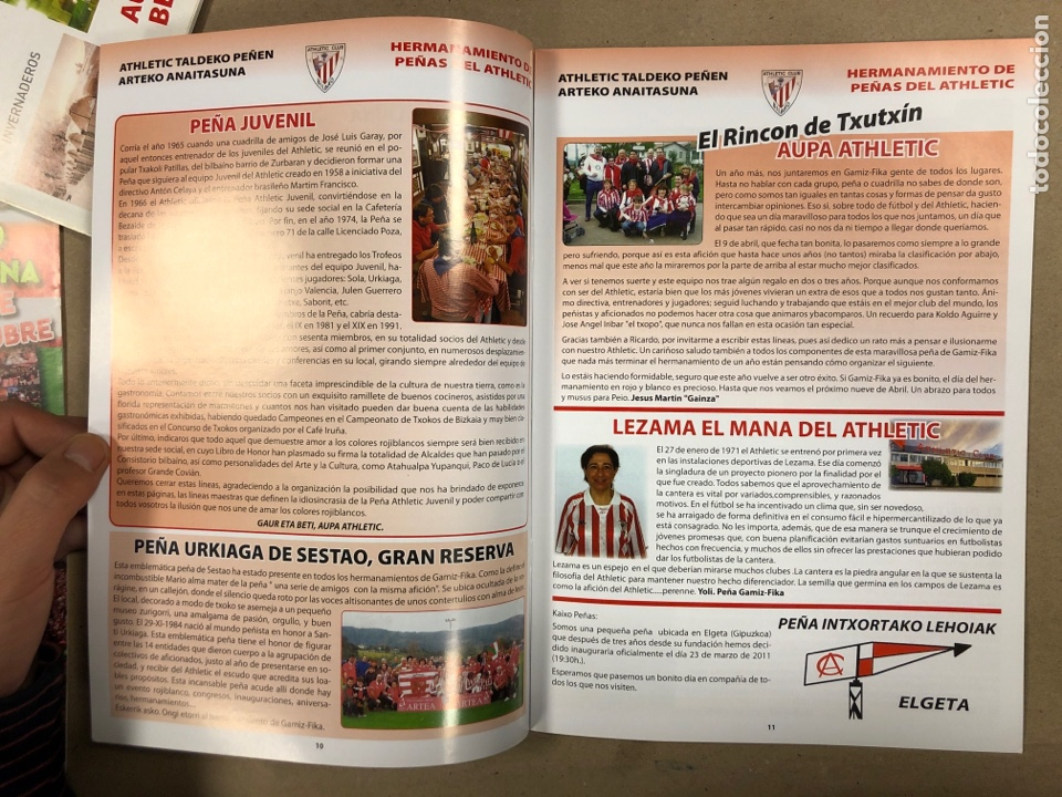 Coleccionismo deportivo: HERMANAMIENTO DE PEÑAS DEL ATHLETIC CLUB EN GAMIZ-FIKA: LOTE DE 5 REVISTAS DE DIFERENTES AÑOS. - Foto 12 - 178346856