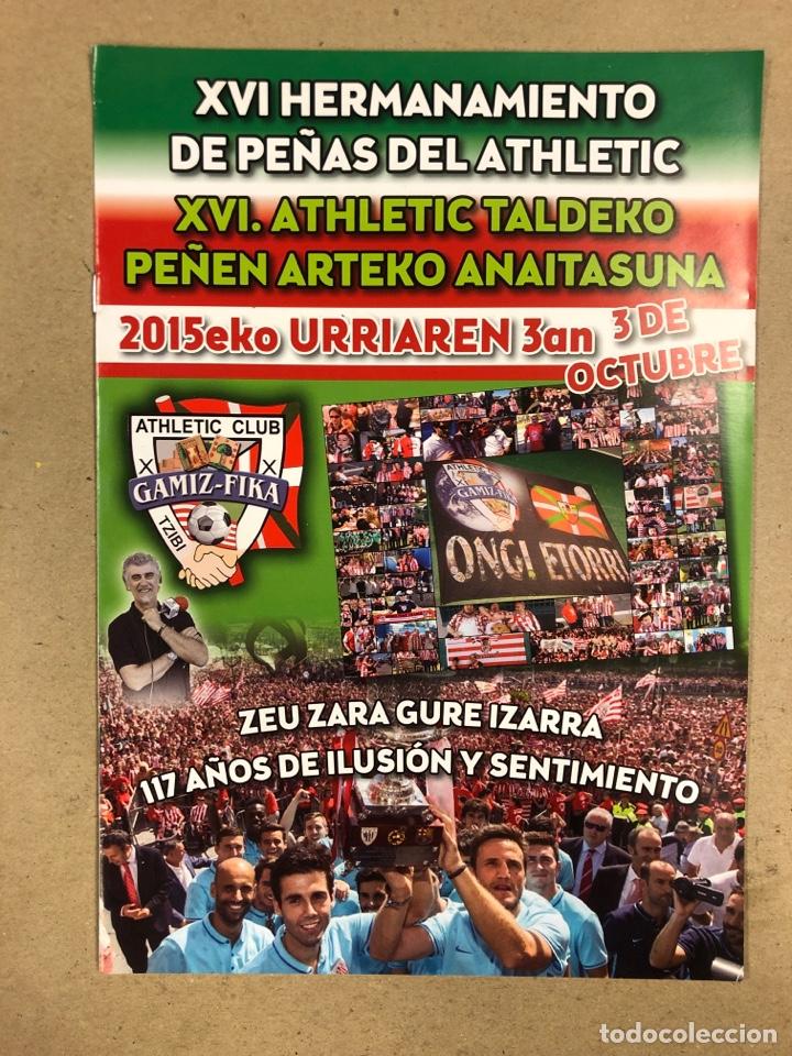 Coleccionismo deportivo: HERMANAMIENTO DE PEÑAS DEL ATHLETIC CLUB EN GAMIZ-FIKA: LOTE DE 5 REVISTAS DE DIFERENTES AÑOS. - Foto 14 - 178346856