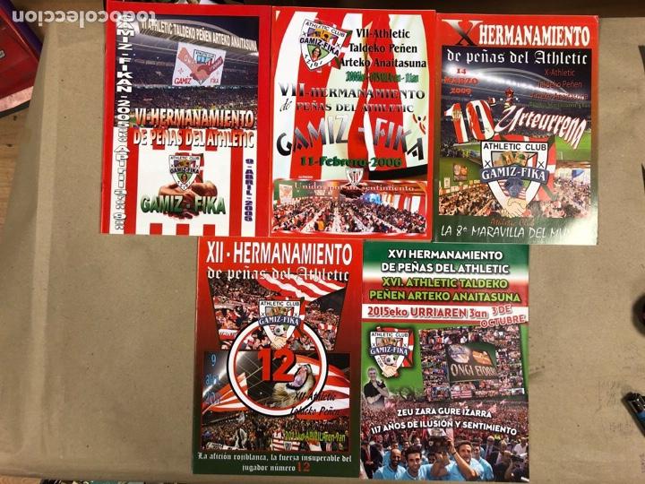 HERMANAMIENTO DE PEÑAS DEL ATHLETIC CLUB EN GAMIZ-FIKA: LOTE DE 5 REVISTAS DE DIFERENTES AÑOS. (Coleccionismo Deportivo - Revistas y Periódicos - otros Fútbol)