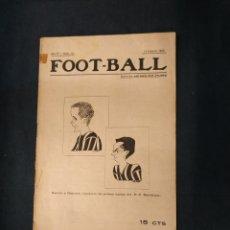 Coleccionismo deportivo: FOOT-BALL - Nº 141 - 14 FEBRERO DE 1918 - PORTADA SANCHO Y REGUERA DEL FC BARCELONA. Lote 178665566