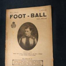 Coleccionismo deportivo: FOOT-BALL - Nº 205 - 17 ABRIL DE 1919 - PORTADA AMADEO PUIG DEL RC DEPORTIVO ESPAÑOL. Lote 178665907
