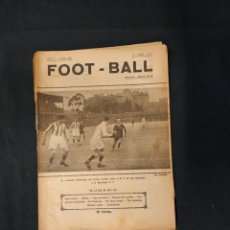 Coleccionismo deportivo: FOOT-BALL - Nº 206 - 24 ABRIL DE 1919 - PORTADA PARTIDO R.S. DE SAN SEBASTIAN - BARCELONA F.C.. Lote 178666383