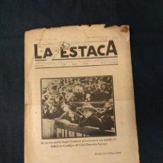 Coleccionismo deportivo: LA ESTACA - Nº 118 - 10 AGOSTO 1924 - PORTADA ANGEL GUIMERA EN EL CAMPO DEL C.D. EUROPA - . Lote 178667941