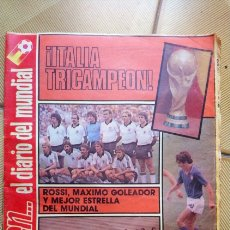 Coleccionismo deportivo: DIARIO DICEN 12 DE JULIO DE 1982 ITALIA CAMPEÓN MUNDIAL 82. Lote 178772516