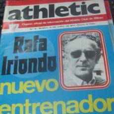 Coleccionismo deportivo: ATHLETIC REVISTA ORGANO OFICIAL DE INFORMACION DEL ATHLETIC CLUB DE BILBAO N° 18 10 DE JUNIO 1974. Lote 178779057