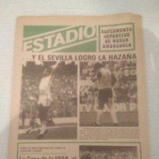 Coleccionismo deportivo: ESTADIO SUPLEMENTO DEPORTIVO NUEVA ANDALUCIA.COPA UEFA AL ALCANCE DE LA MANO PARA EL REAL BETIS.. Lote 179116085