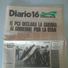 Coleccionismo deportivo: DIARIO 16 ANDALUCIA.AÑO VIII-N.2187 27 JUNIO 1983.COPA DEL REY CON JOSE ANGEL MORENO.BETIS.VER FOTOS. Lote 179116463