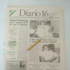 Coleccionismo deportivo: DIARIO 16 ANDALUCÍA.AÑO XV-N.4685 21 MAYO 1990. EL BETIS VUELVE A PRIMERA EXPO 92 VER FOTOS. Lote 179116498