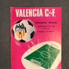 Collezionismo sportivo: FÚTBOL. VALENCIA C.F., PROGRAMA OFICIAL, VALENCIA- ATHLETIC BILBAO (11 DE ABRIL DE 1976). Lote 180195632