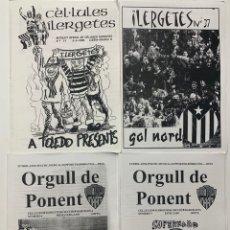 Coleccionismo deportivo: LOTE FANZINE CEL.LULES ILERGETES LLEIDA ORGULL DE PONENT. Lote 180471327
