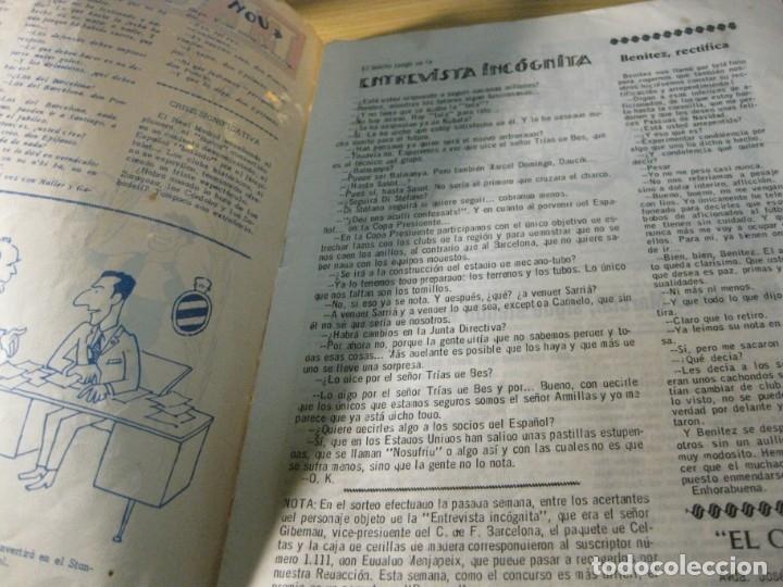 Coleccionismo deportivo: revista satirica de futbol y deportes el once nº 1026 año 1965 el sabadell vuelve a primera - Foto 2 - 180493075