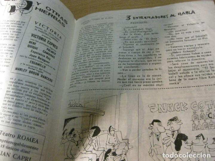 Coleccionismo deportivo: revista satirica de futbol y deportes el once nº 1026 año 1965 el sabadell vuelve a primera - Foto 4 - 180493075
