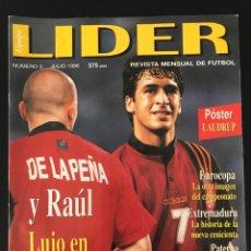 Coleccionismo deportivo: FÚTBOL LÍDER 3 - PÓSTER LAUDRUP - EUROCOPA 96 - TENERIFE - EXTREMADURA - AS DON BALÓN MARCA SPORT. Lote 181870185