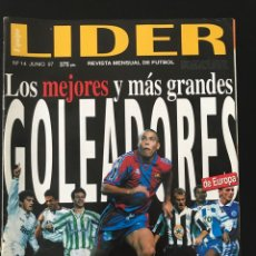 Coleccionismo deportivo: FÚTBOL LÍDER 14 - PÓSTER ORTEGA - GOLEADORES - VALLADOLID - ESPANYOL - DON BALÓN AS MARCA. Lote 182065031