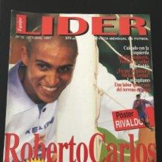 Coleccionismo deportivo: FÚTBOL LÍDER 18 - PÓSTER RIVALDO - R. CARLOS - OVIEDO - TENERIFE - RACING - LARDIN - DON BALÓN AS. Lote 182077437