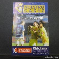 Coleccionismo deportivo: LOTE DE 68 REVISTAS DE NUESTRO CADIZ. Lote 182426442