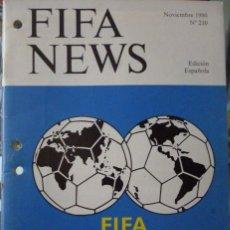 Coleccionismo deportivo: F.I.F.A. NEWS Nº 210. Lote 182447475