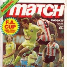 Coleccionismo deportivo: MATCH 12-04-1980 SIN CONTRATAPA. Lote 287883583