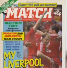 Collectionnisme sportif: MATCH 31-12-1988. Lote 182447885