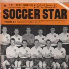 Coleccionismo deportivo: SOCCER STAR 20-02-1960. Lote 182449000