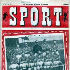 Coleccionismo deportivo: SPORT (BRITÁNICA) 13-01-1950. Lote 182449072