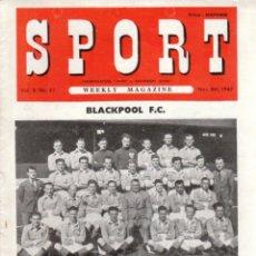 Coleccionismo deportivo: SPORT (BRITÁNICA) 08-11-1947. Lote 182449075