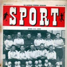 Coleccionismo deportivo: SPORT (BRITÁNICA) 10-03-1950. Lote 182449095