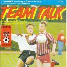 Coleccionismo deportivo: TEAM TALK FEBRERO 1993. Lote 182449222