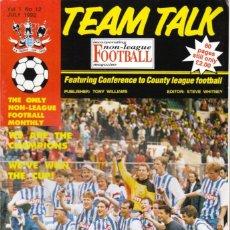 Coleccionismo deportivo: TEAM TALK JULIO 1992. Lote 182449242