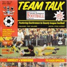 Coleccionismo deportivo: TEAM TALK MAYO 1992. Lote 182449265