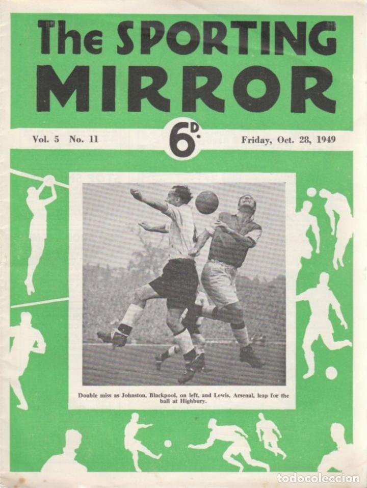 THE SPORTING MIRROR 28-10-1949 (Coleccionismo Deportivo - Revistas y Periódicos - otros Fútbol)