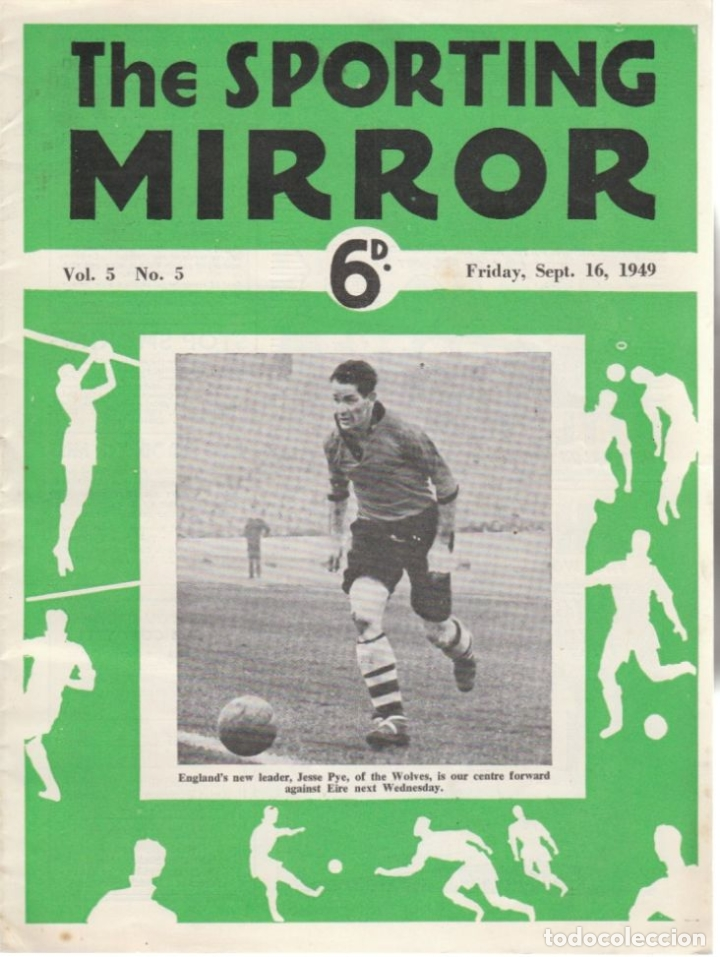 THE SPORTING MIRROR 16-09-1949 (Coleccionismo Deportivo - Revistas y Periódicos - otros Fútbol)