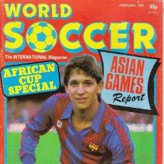 Coleccionismo deportivo: WORLD SOCCER FEBRERO 1987. Lote 182449535
