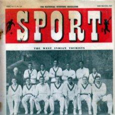 Coleccionismo deportivo: SPORT (BRITÁNICA) 09-06-1950. Lote 182449540