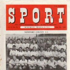 Coleccionismo deportivo: SPORT (BRITÁNICA) 04-09-1948. Lote 182449550