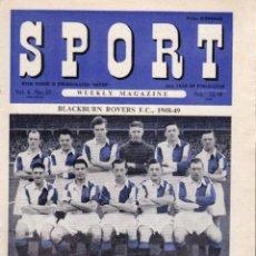 Coleccionismo deportivo: SPORT (BRITÁNICA) 12-02-1949. Lote 182449560